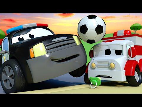 Patrol Policyjny Zagadka Footballowa Miasto Samochodów  Bajki Dla Dzieci