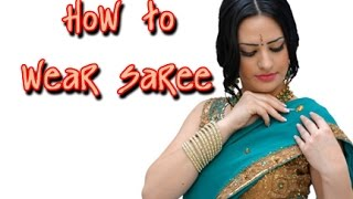 Wear A Saree In 2 Minutes   Quick Saree Draping Tutorial India Video 9