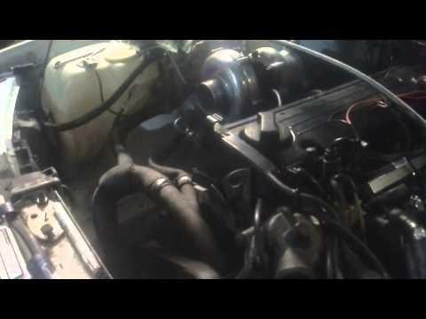 Mercedes M102 2.0 Turbo First Start  Megasquirt2 kaju007
