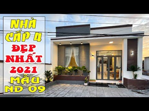 Nhà cấp 4 đẹp 2021: Mẫu số 9 Nhà cấp 4 mái tole thiết kế hiện đại với 2 phòng ngủ