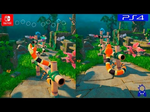 Snake Pass | PS4 VS Switch | GRAPHICS COMPARISON | Comparativa