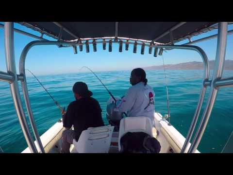 ray j and friends fishing for rock fish in malibu CA