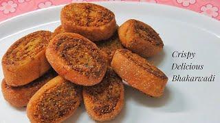 Crispy Bhakarwadi Recipe/ Homemade Indian Snack Recipe - Gujarati Bhakarwadi Recipe