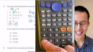 Statistical Analysis Exam Review (1 of 6: Stem & leaf plot, sample standard deviation)