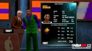 NBA 2K13: MyCAREER Mode Draft Night Screenshot From Ronnie2K