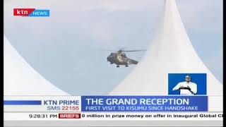 President Uhuru Kenyatta receives grand reception in historic Kisumu visit