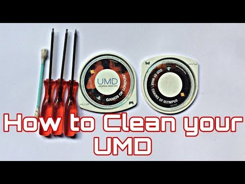 How to clean your UMD Disk (Really works) | psp   | pubg