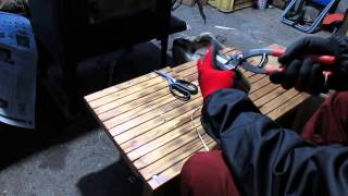 アルミ缶アートの作り方、空き缶のリサイクル。