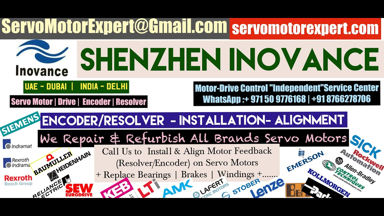 Shenzhen Inovance New Servo motor Dealer in Stock buy Stock Encoder  Resolver Angle Adjust Align