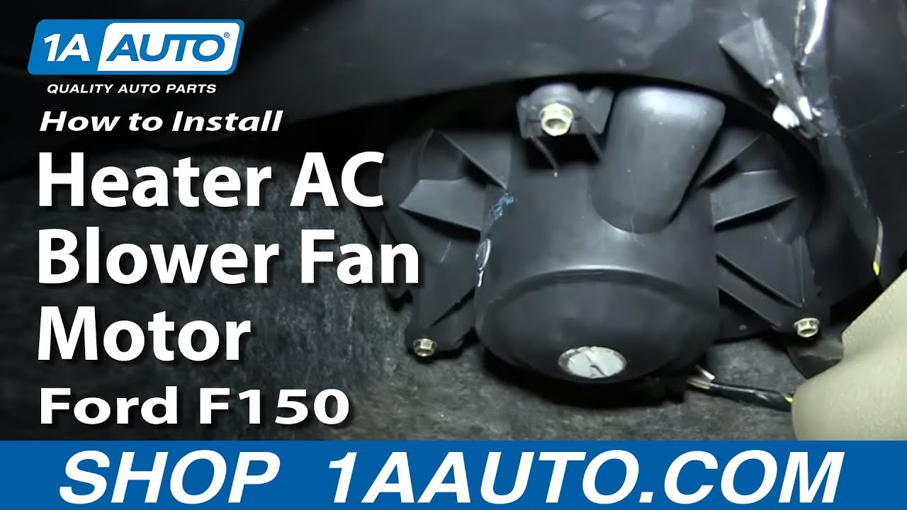 How To Install Replace Heater Ac Blower Fan Motor 2004 08 Ford F150 2001 Air Conditioner Diagram Youtube