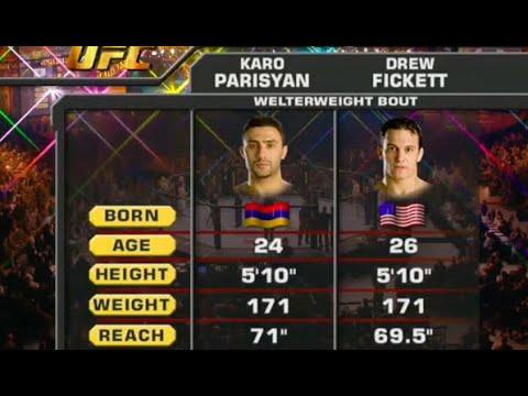 Karo Parisyan Vs Drew Fickett UFC Fight Night