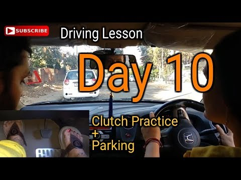 Mom Driving Lesson Day 10 | Parking and Clutch Practice