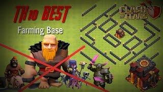 [Clash of Clans] TH10 Anti 3 Star - Farming + War Base [Update Gaint 8]