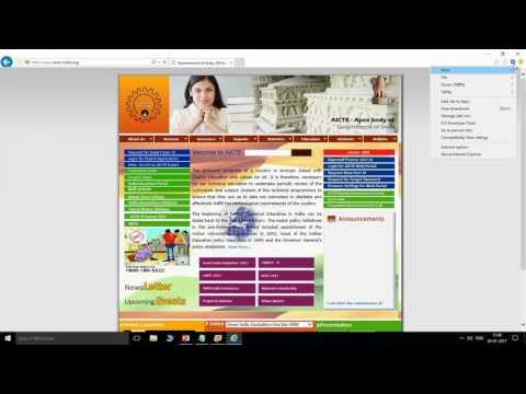 Browser Settings for AICTE WebPortal (StudentPortal)