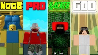 ROBLOX NOOB vs PRO vs HACKER vs GOD ROBLOX : WE FOUND THE OOF WORLD! Minecraft