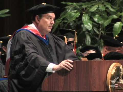 Fall 2009 Commencement Speech, Thomas Baker - 1 of 3