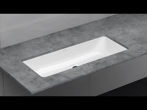 Undercounter Washbasin With Overflow Installation Puro Silenio And Classic Kaldewei Youtube