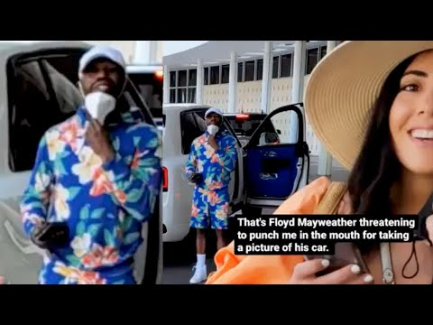 Floyd Mayweather Threatens To Knock Random Dude Out!