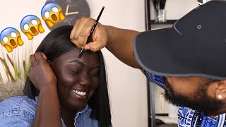Boyfriend Does My Brows || Nyma Tang