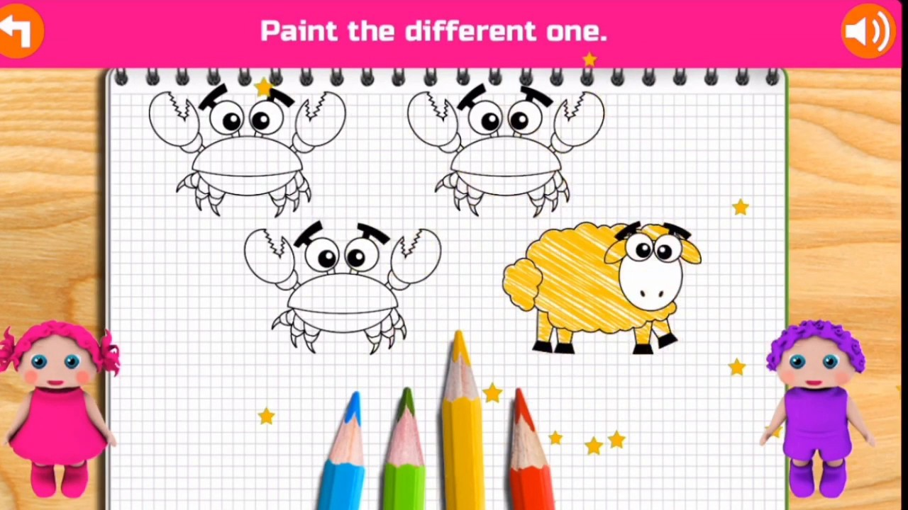 Educational Video For Toddlers - Coloring Book Painting Games for Children  Kids - Cubic Frog App