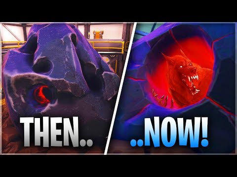 It's growing inside the meteor.. and IS BREAKING OUT!! (*NEW* Fortnite Update)