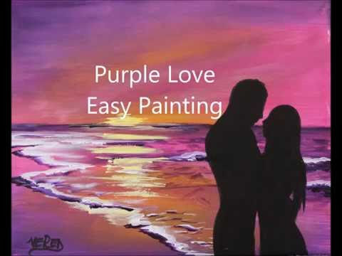 How To Paint COUPLE In LOVE At Sunset VALENTINES DAY Tutorial Acrylics For Beginners