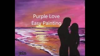 How to paint COUPLE in LOVE at sunset. VALENTINES DAY Tutorial in Acrylics for beginners.