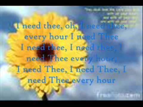 Jars of Clay ~I need Thee Every Hour (With Lyrics)