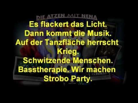 Strobo Pop LYRICS - Die Atzen feat Nena - New Single