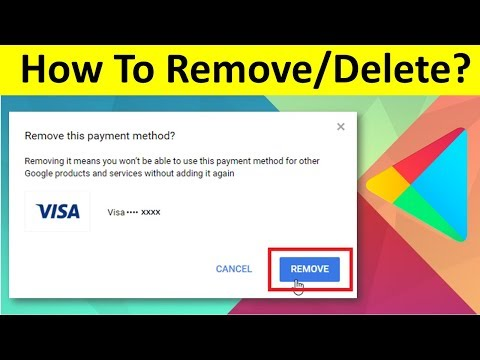 How To Remove Saved Card Details/Payment Method From Playstore | Remove Debit Card Or Credit Card