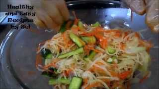 Pickled Mixed Green Papaya Recipe