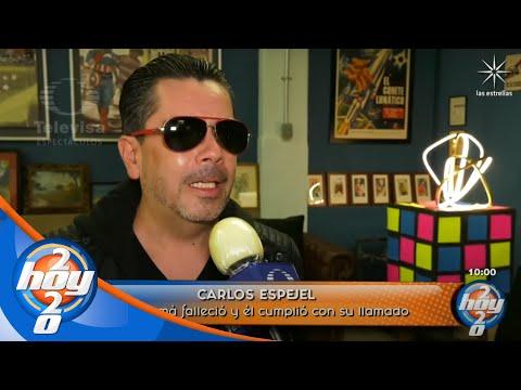 Carlos Espejel regresa a los foros de grabación tras la reciente partida de su mamá   Hoy