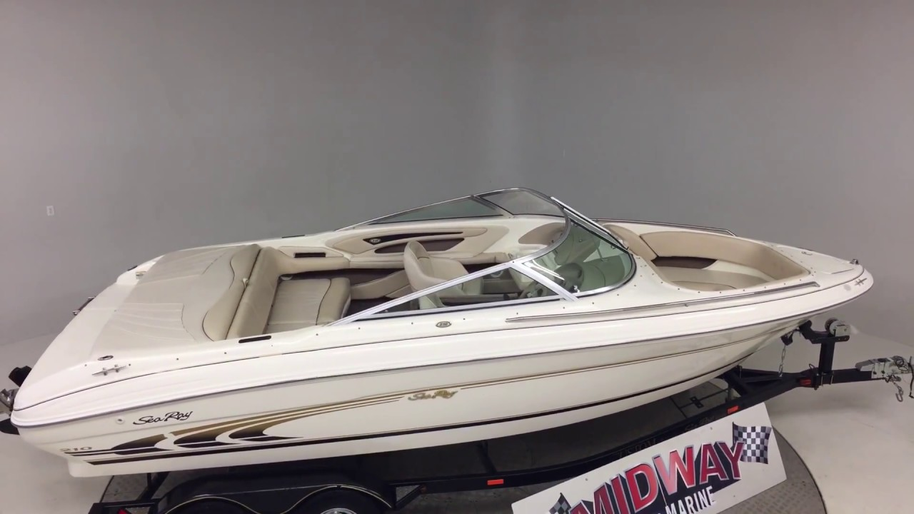 1998 Sea Ray 210 signature top view