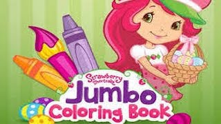 Strawberry Shortcake Jumbo Coloring Book Part 1- iPad app demo for kids - Ellie