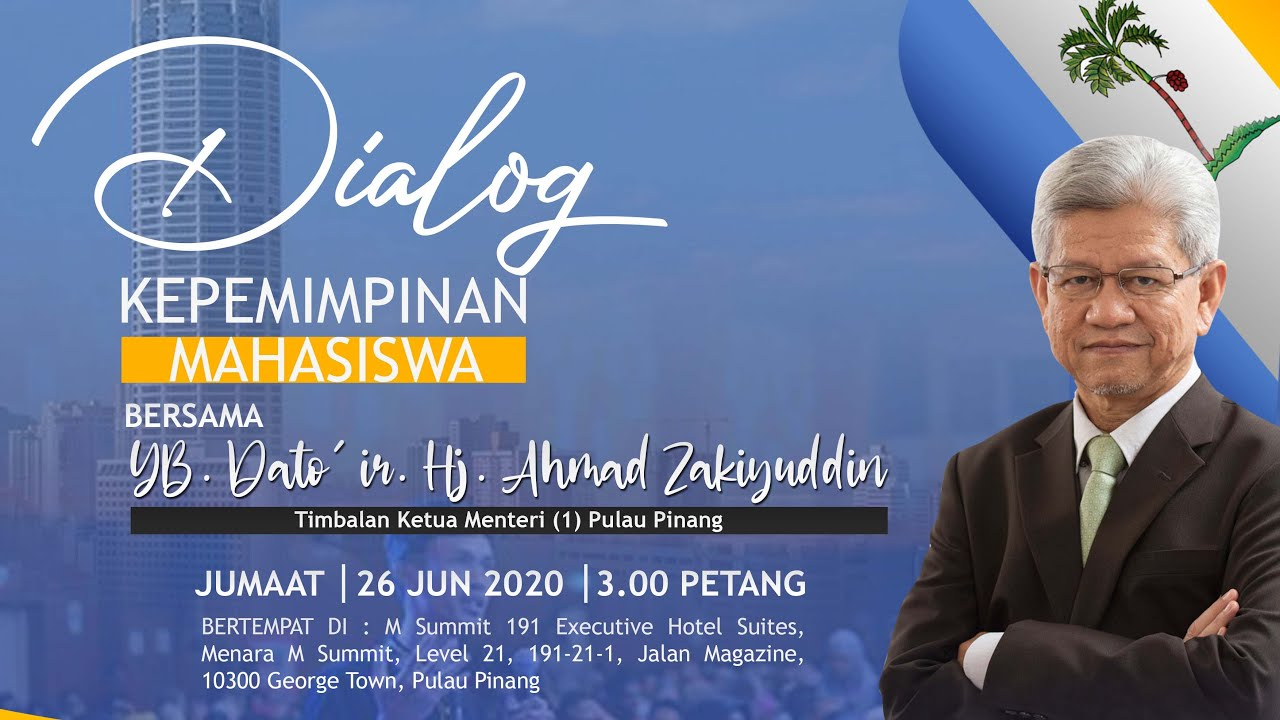 Dialog Kepimpinan Mahasiswa Bersama Timbalan Ketua Menteri 1 Negeri Pulau Pinang Youtube