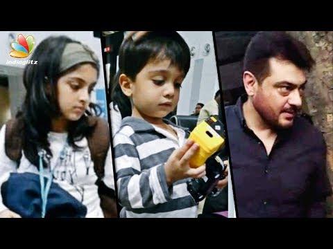 Thala Ajith's family on vacation   Anoushka, Aadvik, Shalini   Latest Tamil Cinema News