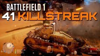 Battlefield 1 Beta: 41 Killstreak - Light Tank RAW PC Gameplay (4K Upscaled)
