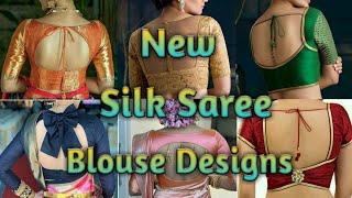 New Blouse Designs Beautiful Blouse Silk Saree Blouse Designs screenshot 5