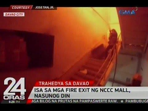 Isa sa mga fire exit ng NCCC mall, nasunog din