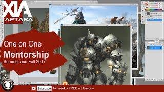Mentorship program: digital painting and drawing class 2017