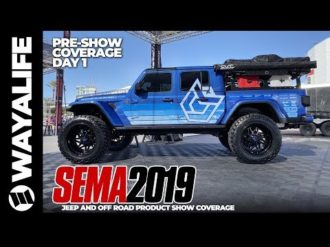 sema-2019-jeep-gladiator-truck-and-jl-wrangler-products-accessories-wayalife-pre-show-coverage-day-1