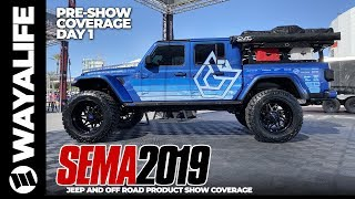 Gambar cover SEMA 2019 Jeep Gladiator Truck and JL Wrangler Products Accessories WAYALIFE Pre Show Coverage Day 1