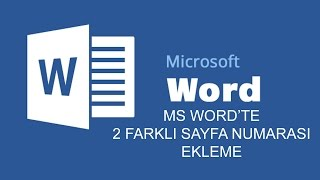 Word Dosyasına İki Farklı Sayfa Numarası Ekleme