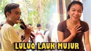 skill mantap Vocal sekaligus pemain suling bikin Luluk ikut nyanyi lagu Sasak