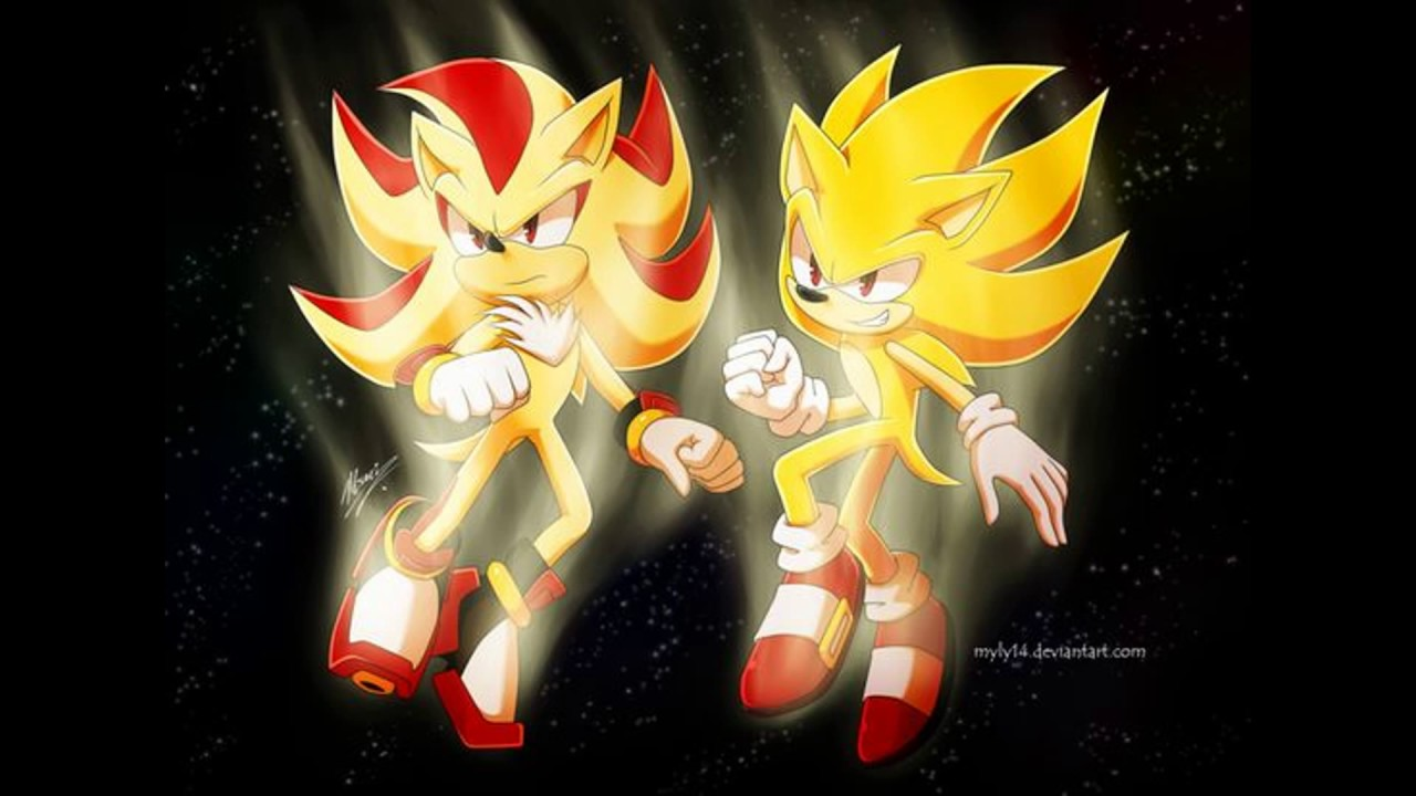 Super Sonic and Super Shadow by Sonitles on DeviantArt |Super Sonic And Super Shadow And Super Silver Wallpaper