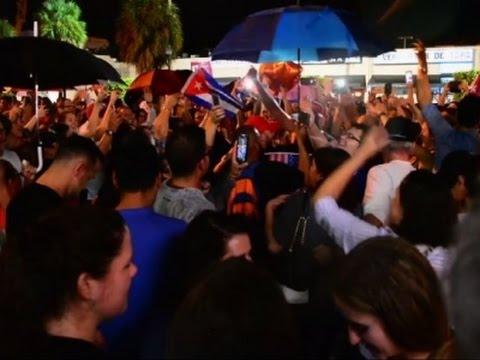 Cuban exiles celebrate Castro's death