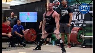 Kody Blazek - 907.5 kg (2000 lbs) WR Total - 1st Place Wrapped 181 lbs - Tribute Meet
