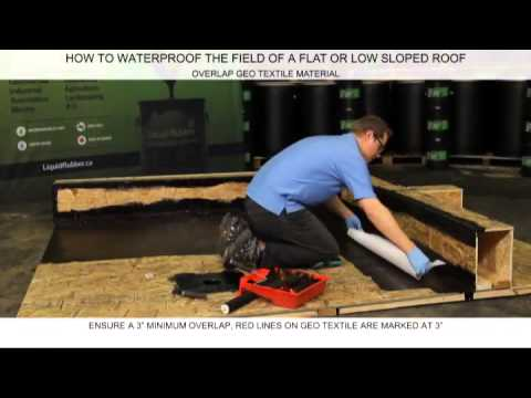 How To Waterproof The Field Of A Flat Or Low Slooped Roof