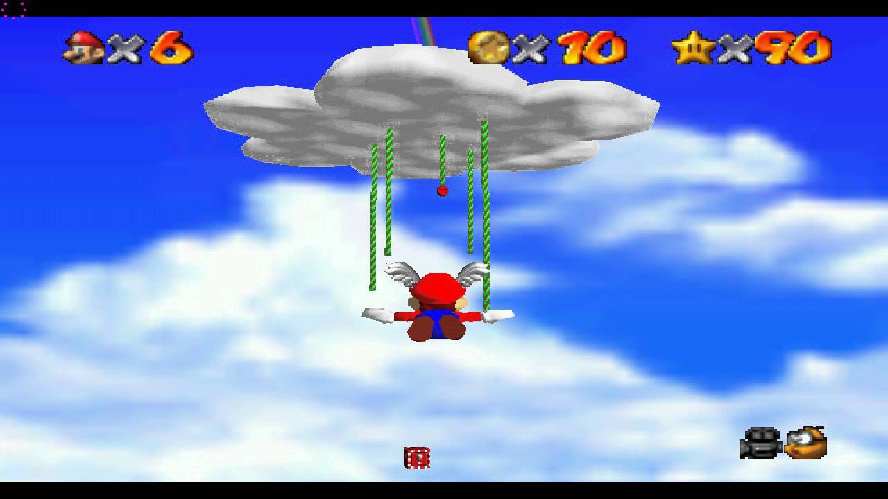 Image result for Wing Mario Over the Rainbow - Secret Star