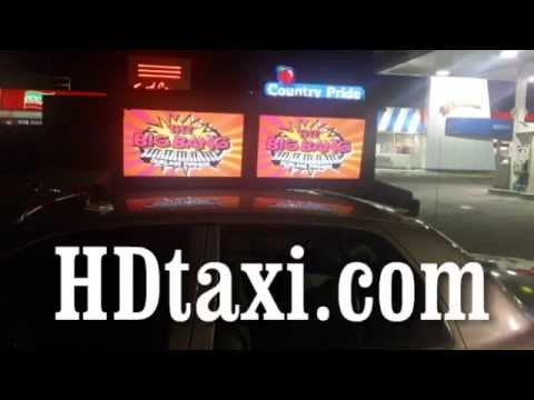 Mobile Advertising TAXI CAB Rooftop Signs HD Digital FOR SALE 614